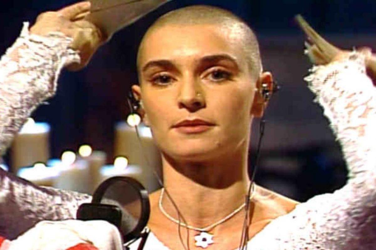 Sinead O´Connor rompió la imagen del Papa en los años 90. Foto:vía Getty Images