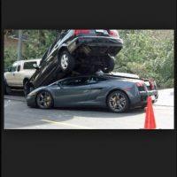 Un Lamborghini más en problemas. Foto:Tumblr