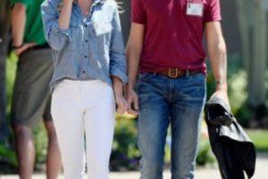 4- Jack Dorsey (Twitter) y Kate Greer. Foto:Getty Images