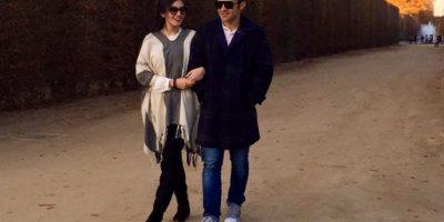 Carlos Peña y Christa García se comprometen en París