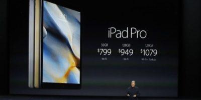Precio: 799 dólares (32GB + Wi-Fi), 949 dólares (128GB + Wi-Fi) y 1,079 dólares (128GB + W-iFi). Foto:Getty Images