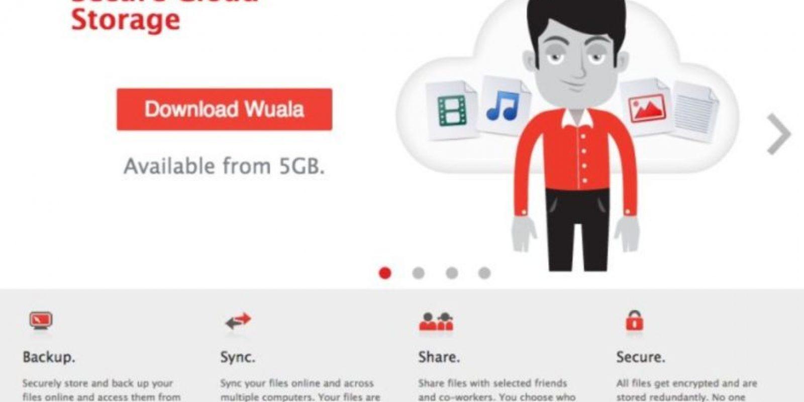 Wuala les permite hasta 5GB gratis. Foto:vía wuala.com