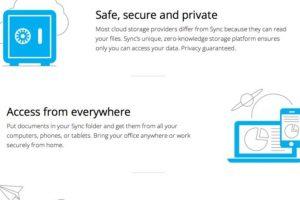 Sync es una buena opción para profesionistas que trabajan online. Foto:vía sync.com