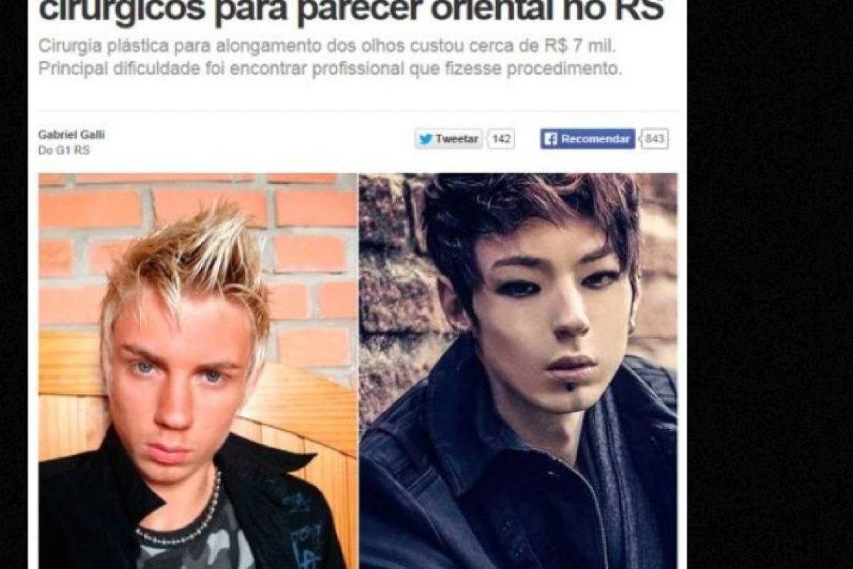 """Xiahn es un joven brasileño que de rubio pasó a ser """"coreano"""", como esos ídolos de las novelas y la música. Foto:vía Facebook/Xiahn"""