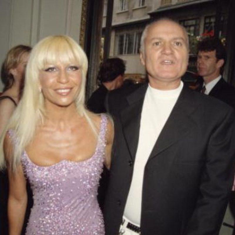Donatella Versace no era una belleza. Foto:vía Getty Images