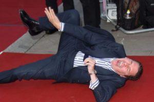 Jools Holland tuvo un momento bochornoso en los GQ Awards de 2014. Foto:Getty Images