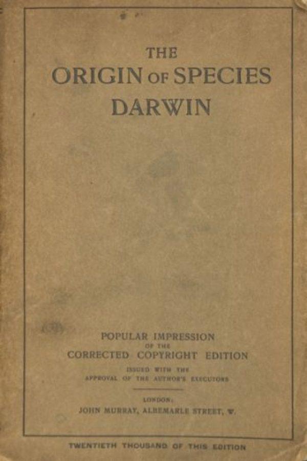"""El Origen de las Especies"" de Charles Darwin Foto:Wikimedia.org"