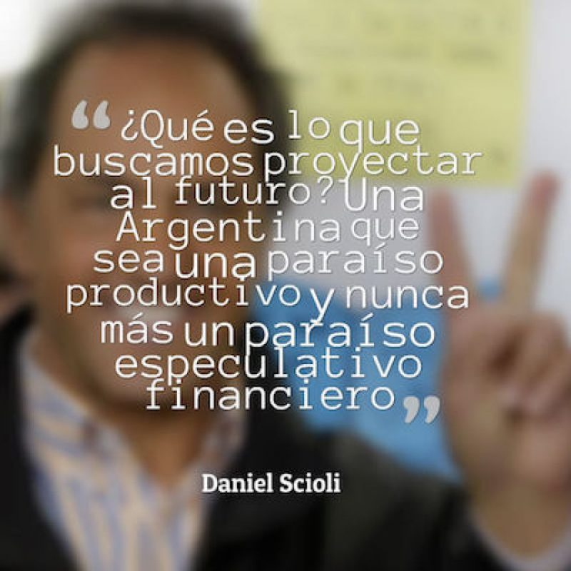 """Daniel Scioli, """"Frente para la Victoria"""" Foto:QuotesCover"""