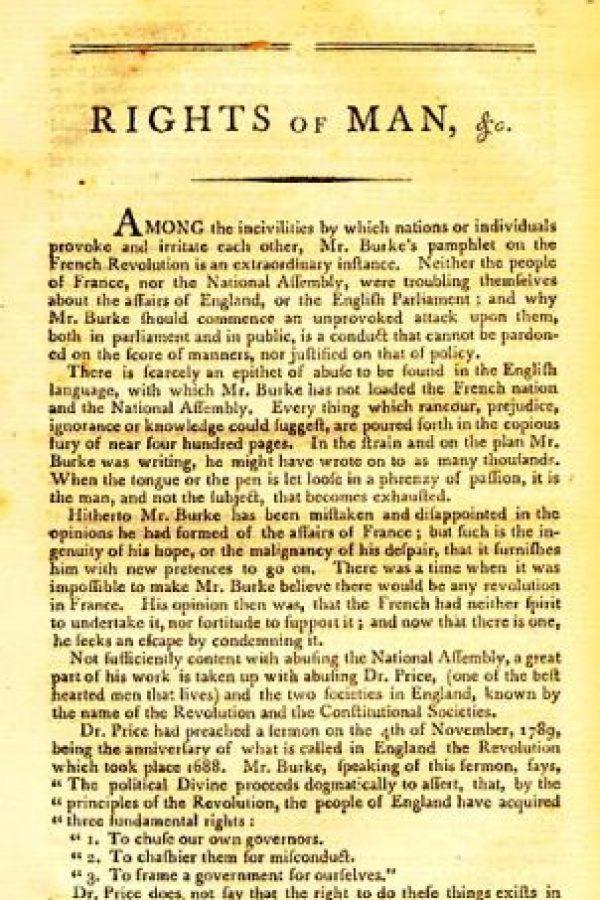 """""""Los derechos del hombre"""" de Thomas Paine Foto:Wikimedia.org"""
