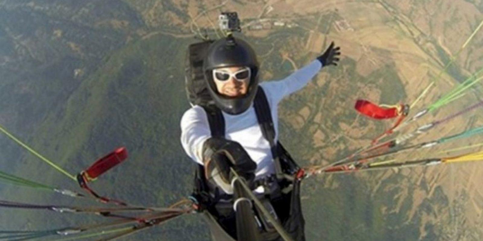 Al dar un salto en avión. Foto:Vía Instagram/#amazingselfie