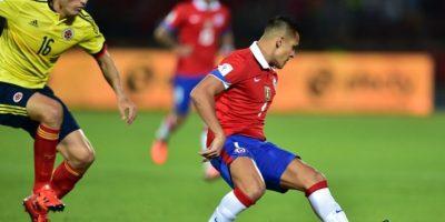 Chile y Colombia igualaron 1-1, en partido de la fecha 3 de la Eliminatoria mundialista de Conmebol Foto:AFP