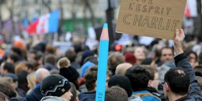 También se llevaron a cabo marchas a favor de la libertad de expresión. Foto:AFP