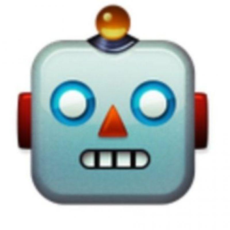 Cabeza de robot. Foto:vía emojipedia.org