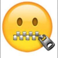 Boca cerrada con cierre. Foto:vía emojipedia.org