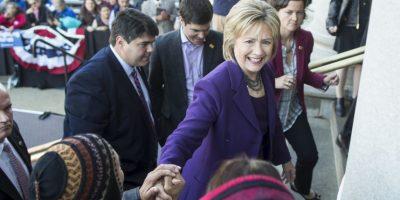 Hillary Clinton lanzó su campaña a la presidencia el 12 de abril. Foto:Getty Images