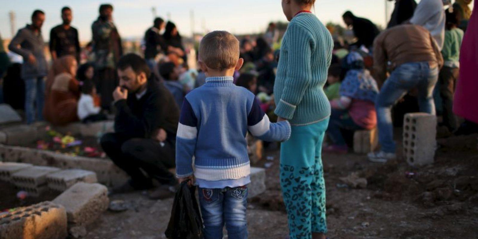 """""""Estoy aquí para anunciar la liberación de Sinyar"""", dijo Massoud Barzani, líder Kurdo Foto:Getty Images"""