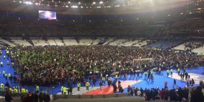 Así terminó el partido entre Francia y Alemania. Foto:vía Twitter