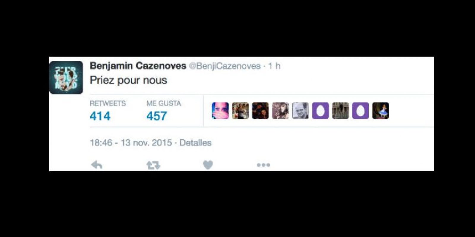"""Cazenoves solo tuitea: """"Recen por nosotros"""". Foto:vía Twitter"""