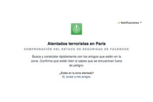 Facebook les permite conocer cómo están sus amigos en Francia. Foto:Facebook