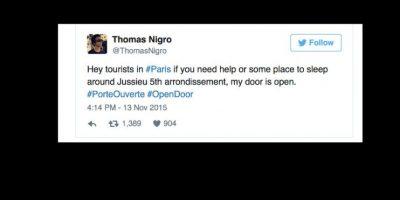 Tanto parisinos como extranjeros viviendo allí ofrecen sus casas. Foto:vía Twitter