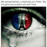 Radamel Falcao: Mis pensamientos y oraciones con París. Foto:Vía twitter.com/FALCAO