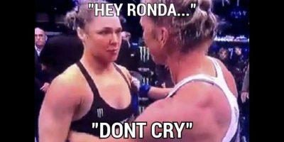 Hey Ronda, no llores. Foto:Vía facebook.com/MemesMMA