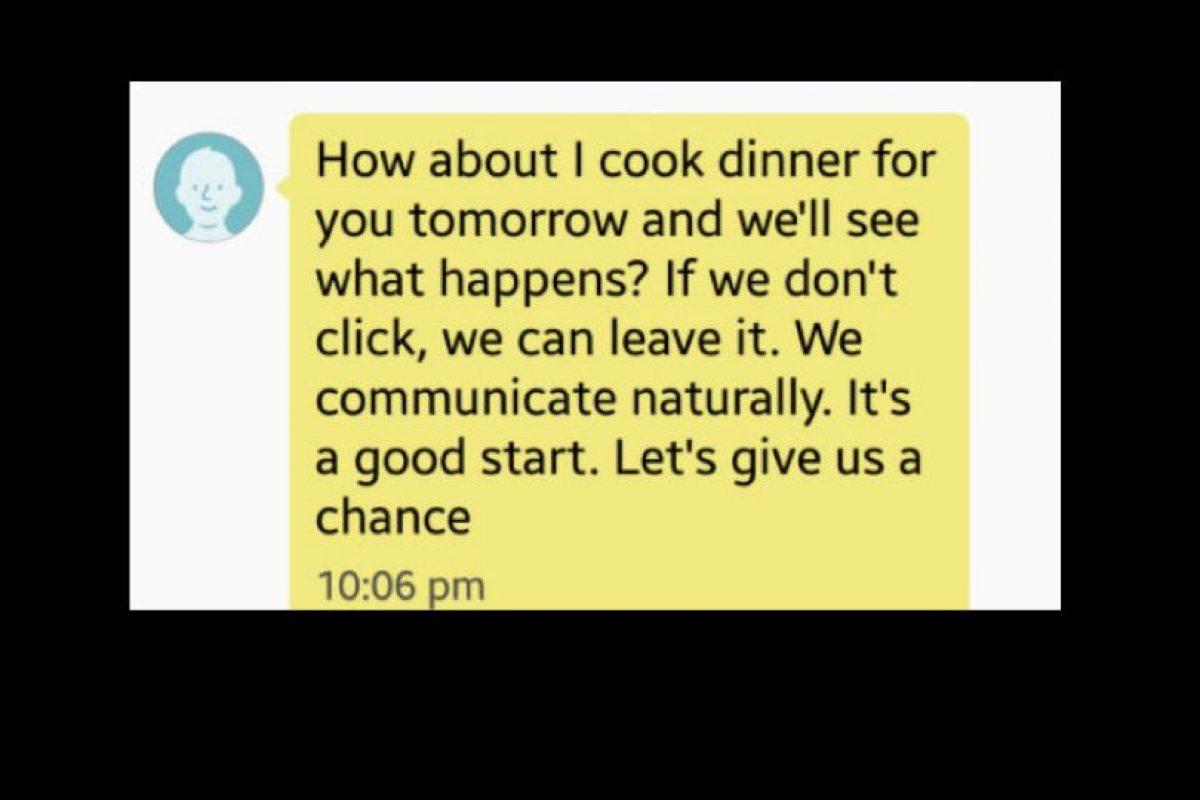 Él insistió. Dijo que quería cocinarle. Foto:vía Tumblr