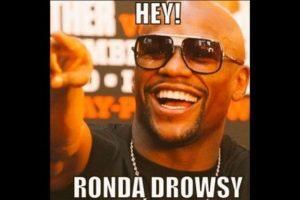 Hey Ronda Drowsy (Somnolienta). Foto:Vía facebook.com/MemesMMA