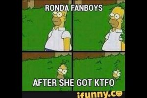 Los fanboys de Ronda después de que fue noqueada. Foto:Vía facebook.com/MemesMMA