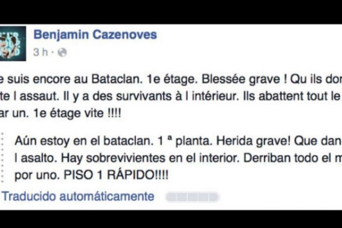 El joven Benjamin Cazenoves publicó lo que pasaba en el lugar en vivo y en directo. Foto:vía Facebook/Benjamin Cazenoves