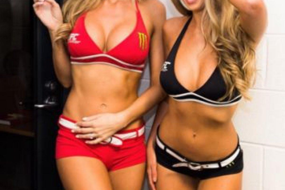 """Ellas fueron las """"octagon girls"""" de UFC 193, es decir, las chicas que desfilan mostrando el número del round que se disputará. Foto:Vía instagram.com/kristiejpearson"""