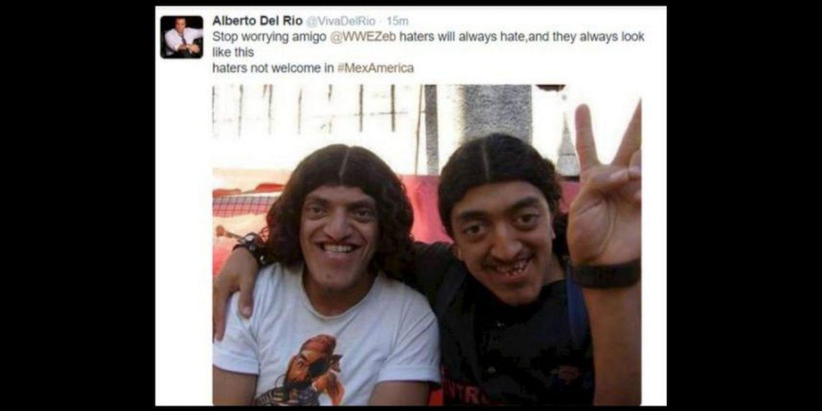 Pero Del Río posteó esta imagen, lo que ocasionó indignación en los internautas Foto:Twitter