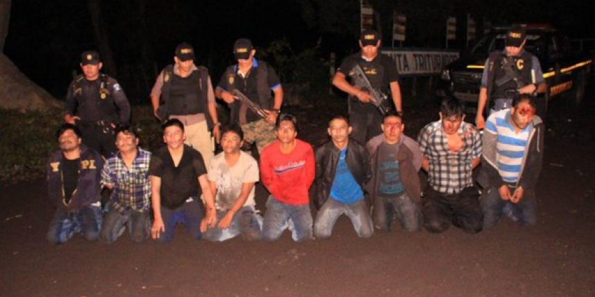 Capturan a nueve presuntos miembros de banda de asaltantes