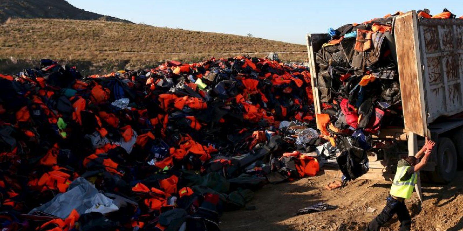 4. La cifra de migrantes y refugiados muertos este año, incluyendo a los que perecieron en el Mediterráneo es de cuatro mil 849 personas. Foto:Getty Images