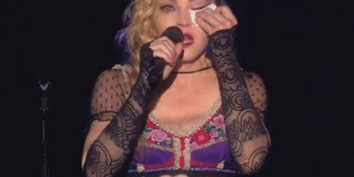 VIDEO. Madonna rompe en llanto en pleno concierto y la razón fue esta