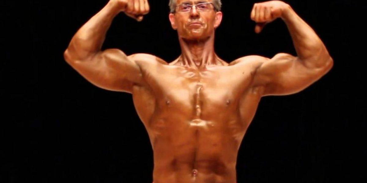 Increíble. A sus 63 años se convierte en el subcampeón de fisiculturismo