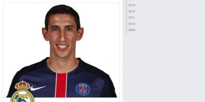 En su cuenta en Facebook, el argentino actualizó su imagen con el cintillo del Madrid. Foto:Publinews