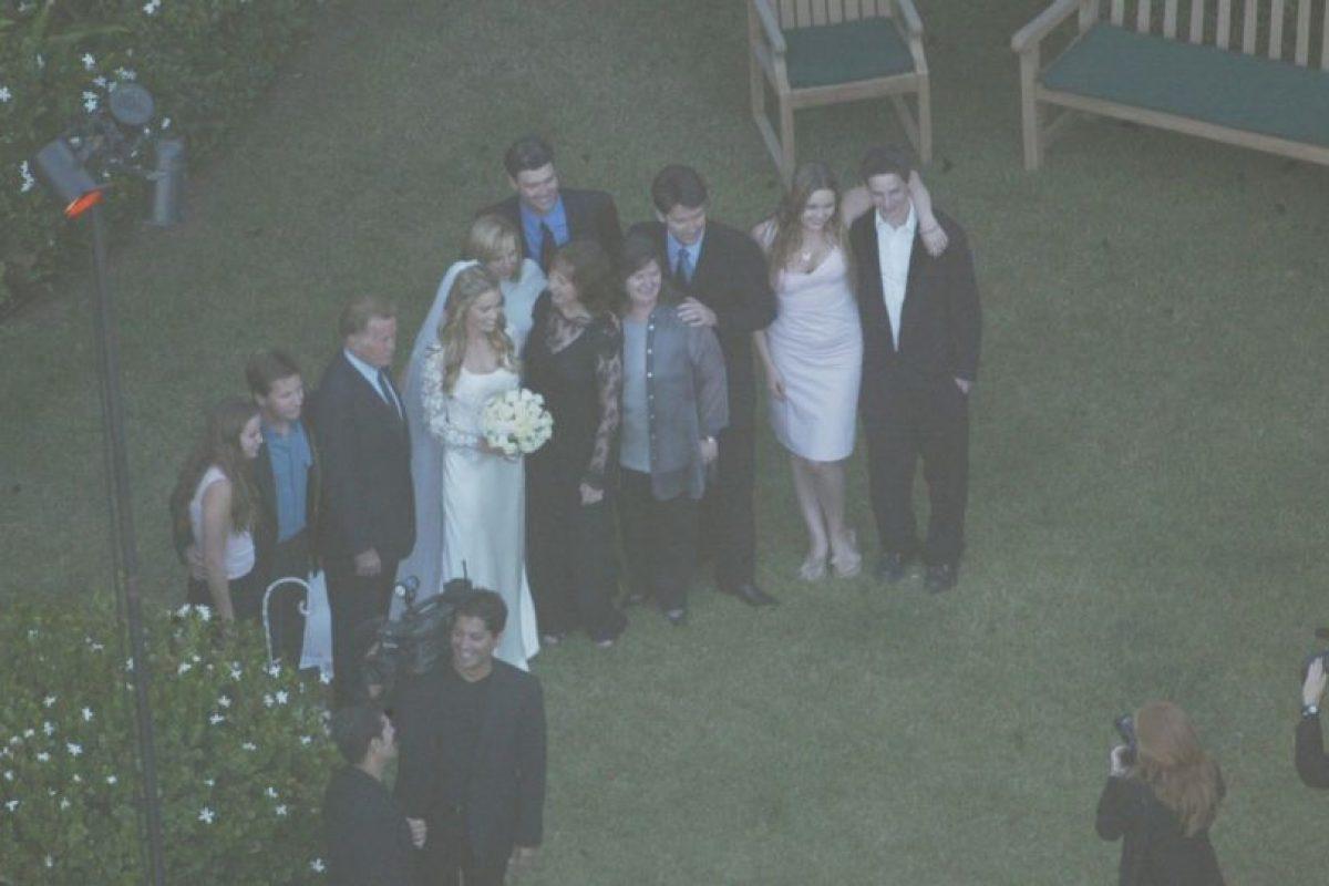 La pareja celebró su amor en una boda privada. Foto:Getty Images