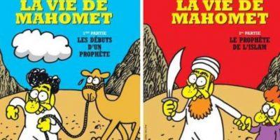 Mahoma era uno de los personajes recurrentes Foto:Facebook: Charlie Hebdo Officiel