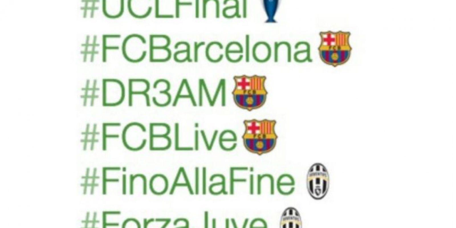 3- Emojis por la final de la UEFA Champions League entre Barcelona y Juventus. Foto:vía Twitter.com