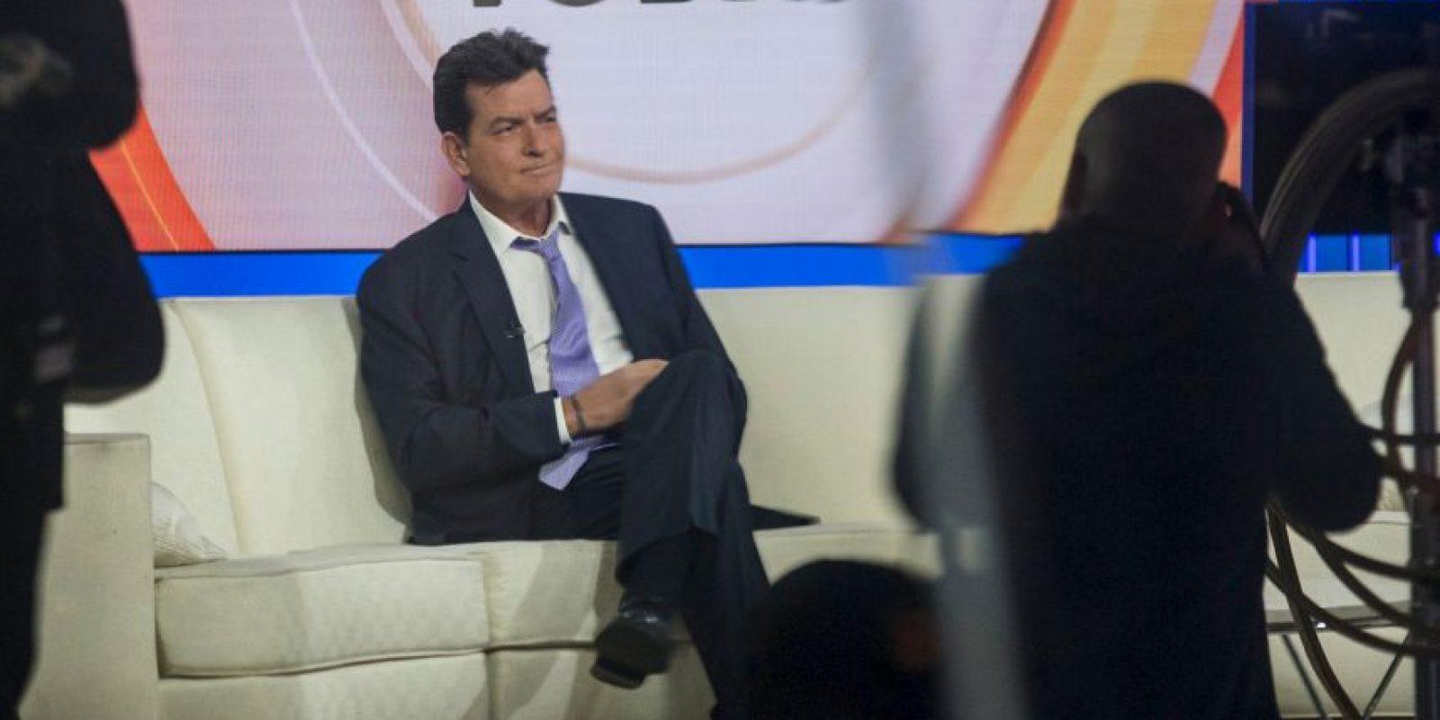 """""""Estoy aquí para admitir que tengo VIH"""", dijo Sheen, de 50 años. Foto:Getty Images"""