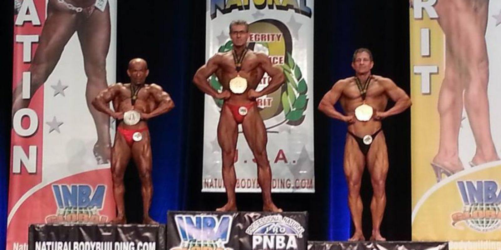 Franco obtuvo el segundo puesto en la categoría Super Masters. Foto:Cortesía Willy Franco