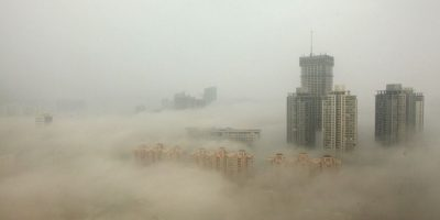 La pasada semana la polución del aire registró niveles históricos. Foto:Getty Images