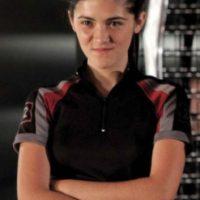 "Isabelle Fuhrman se convirtió en ""Clove"", una joven experta en lanzar cuchillos. Foto:Lionsgate"