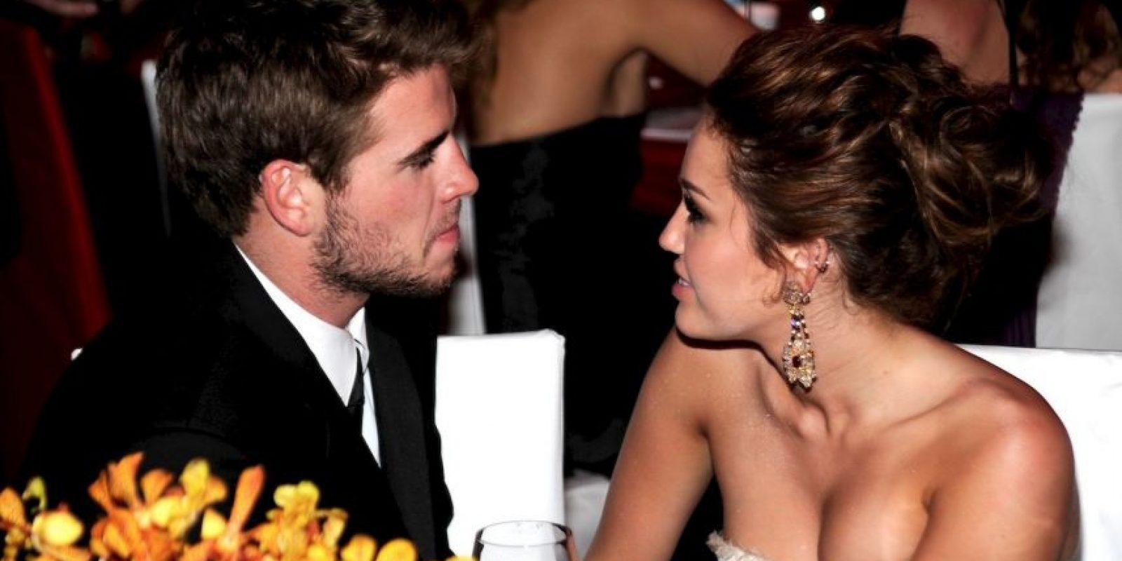 Liam Hemsworth y Miley Cyrus Foto:Getty Images