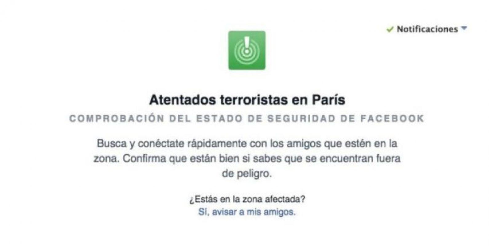 Las comprobaciones de seguridad después de los atentados en Francia el viernes. Foto:Facebook