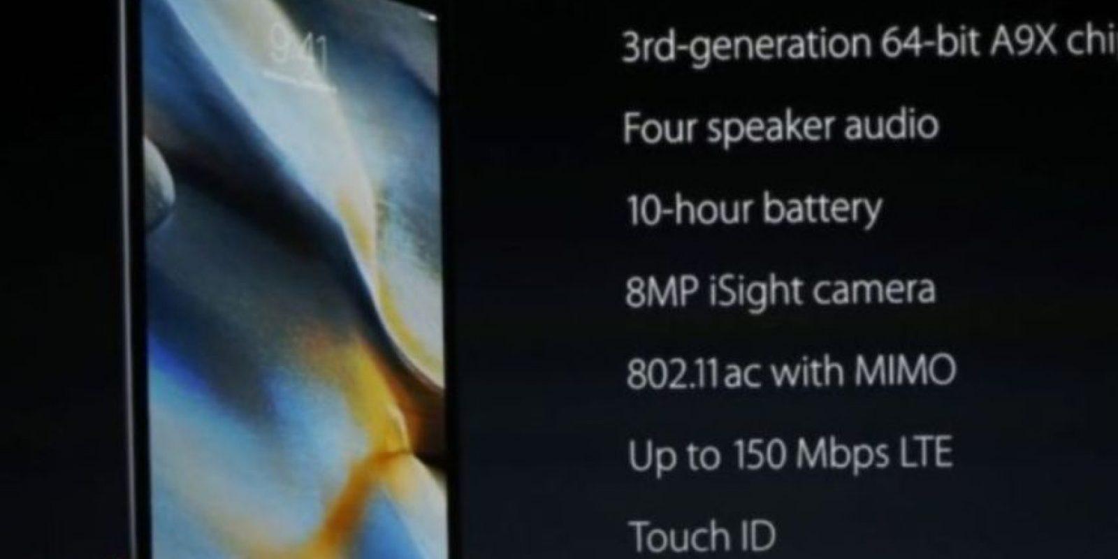 Más detalles del iPad Pro. Foto:Apple
