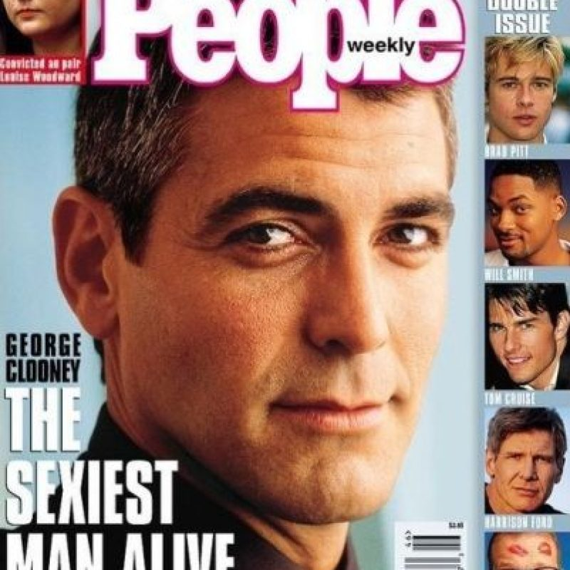 "George Clooney en 1997 Foto:Revista ""People"""
