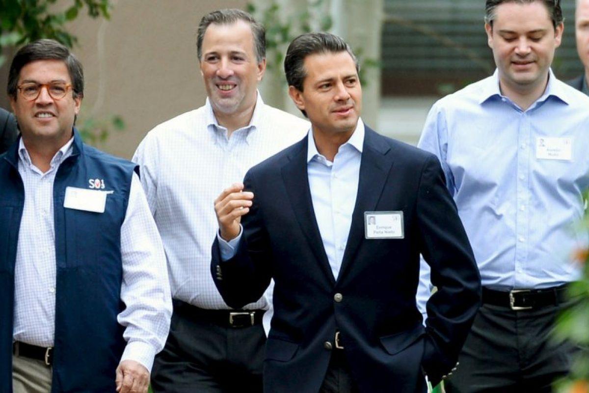 Y el presidente mexicano Enrique Peña Nieto. Foto:Getty Images