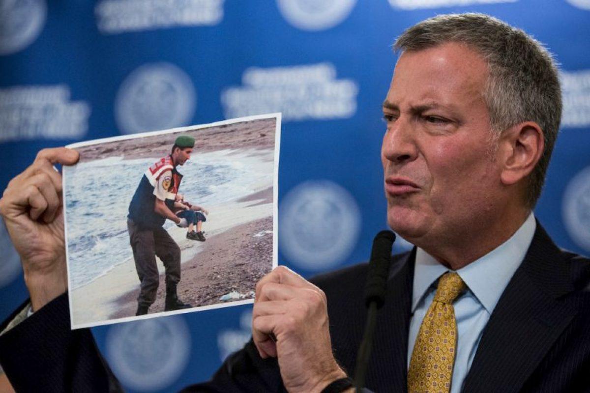 El alcalde de Nueva York, Bill de Blasio pidió a los ciudadanos a continuar con sus labores cotidianas. Foto:AFP